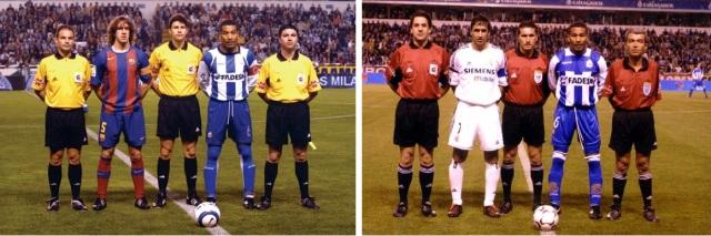 Mauro Silva como capitão contra Real Madrid e Barcelona pelo La Coruna